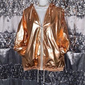 Rose Gold Top Shop Windbreaker Jacket Size 6/8